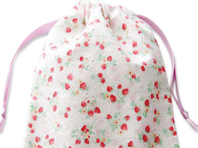 マスク専用抗菌巾着袋