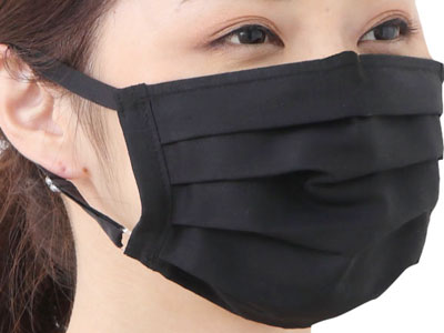 抗ウイルスマスク・プリーツブラック