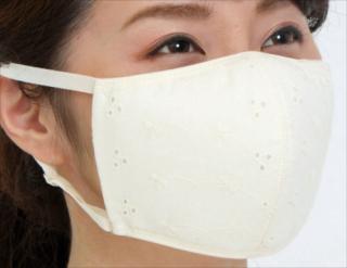 綿レース保湿マスク