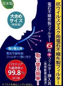 抗ウイルスマスク(大きめサイズ)用エレクトレット(電石)フィルター